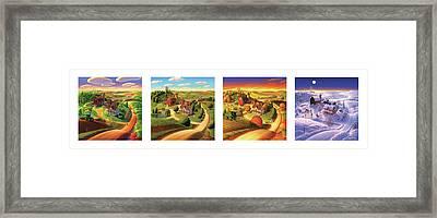 Four Seasons On The Farm Framed Print by Robin Moline