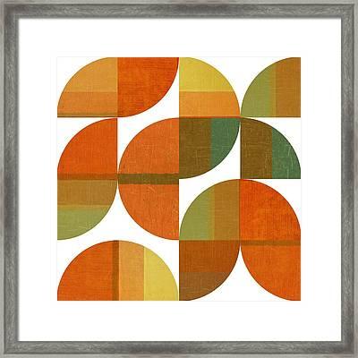 Four Suns Quartered 1.0 Framed Print by Michelle Calkins