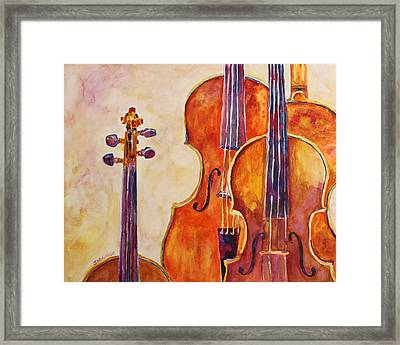 Four Violins Framed Print by Jenny Armitage