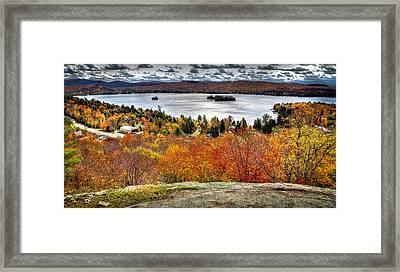 Fourth Lake From Above Framed Print by David Patterson