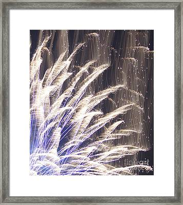 Fourth Of July Fireworks Framed Print by Robert E Alter Reflections of Infinity