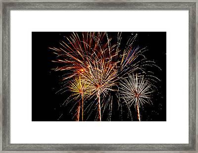 Fourth Of July Fireworks  Framed Print by Saija  Lehtonen