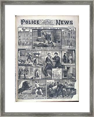 Fourth Whitechapel Murder Framed Print by British Library