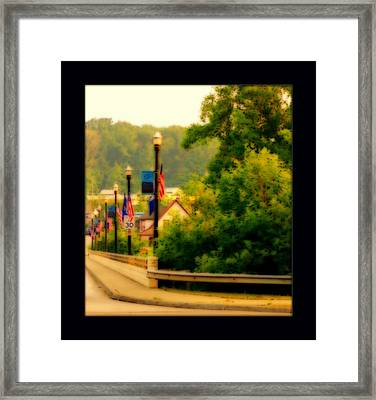 Fouth Of July In A Small Town Framed Print by Rosemarie E Seppala