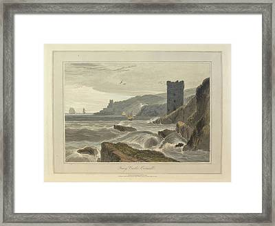 Fowey Castle Framed Print by British Library