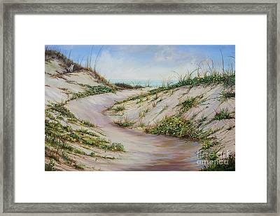 Fox Dunes Framed Print by AnnaJo Vahle