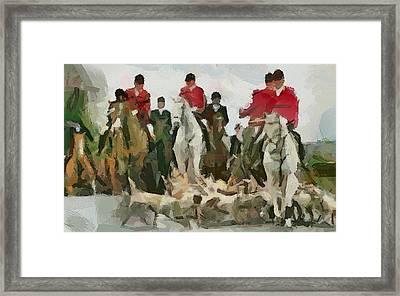 Fox Hunting 5 Framed Print by Yury Malkov