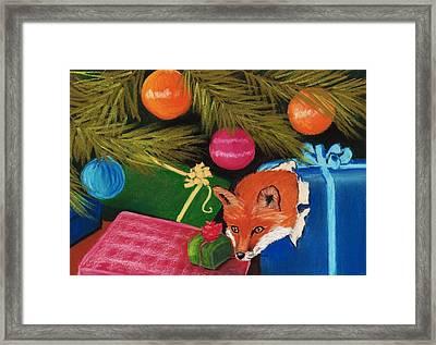 Fox In A Box Framed Print by Anastasiya Malakhova