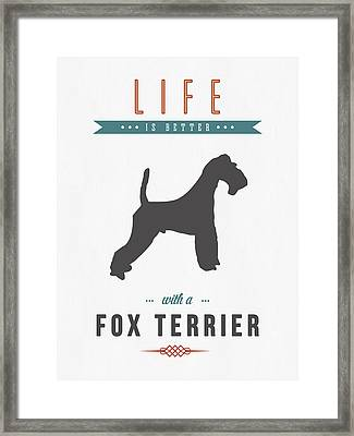 Fox Terrier 01 Framed Print by Aged Pixel