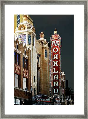 Fox Theater . Oakland California Framed Print by Wingsdomain Art and Photography