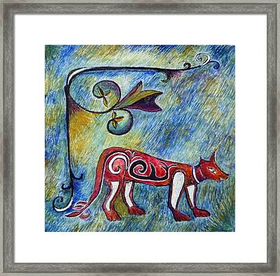 Fox Totem Framed Print by Catherine Meyers