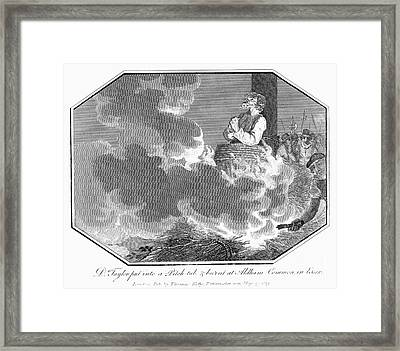 Foxe - Book Of Martyrs Framed Print by Granger