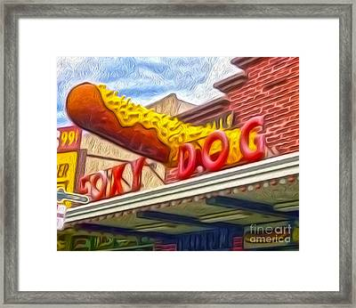 Foxy Dog Framed Print by Gregory Dyer