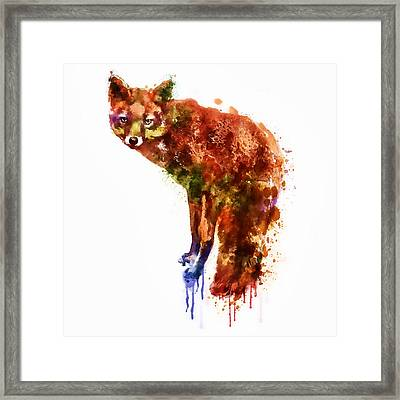 Foxy Lady Watercolor Framed Print by Marian Voicu