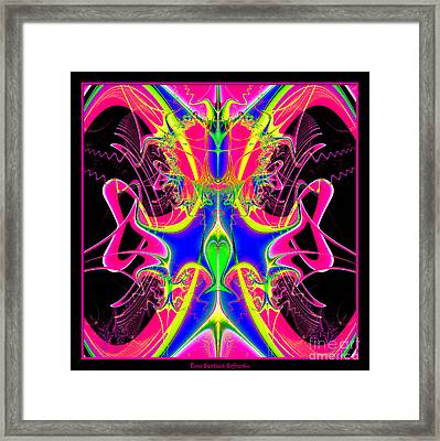 Fractal 15 Color Cacophony  Framed Print by Rose Santuci-Sofranko