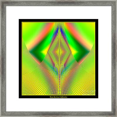 Fractal 32 Up Up And Away Framed Print by Rose Santuci-Sofranko