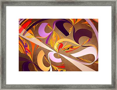 Fractal - Abstract - Space Time Framed Print by Mike Savad