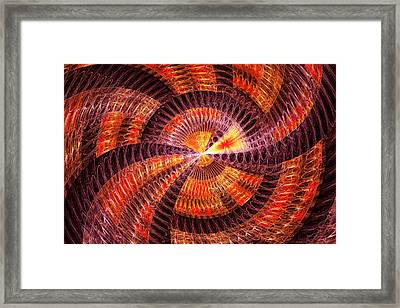 Fractal - Abstract - The Constant Framed Print by Mike Savad