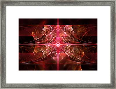 Fractal - Abstract - The Essecence Of Simplicity Framed Print by Mike Savad