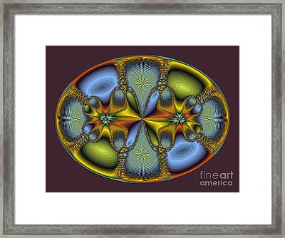 Fractal Art Egg Framed Print by Darleen Stry