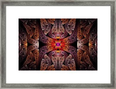 Fractal - Aztec - The Aztecs Framed Print by Mike Savad