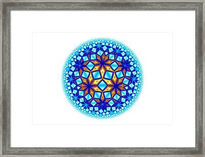 Fractal Escheresque Winter Mandala 7 Framed Print by Hakon Soreide
