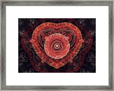 Fractal Heart Framed Print by Martin Capek