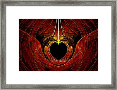 Fractal - Heart - Victorian Love Framed Print by Mike Savad