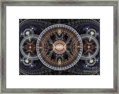 Fractal Inception Framed Print by Martin Capek