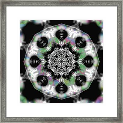 Fractal Kaleidoscope One  Framed Print by Gina Lee Manley