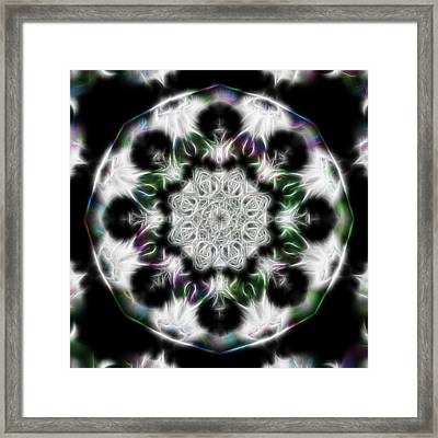 Fractal Kaleidoscope Two - Filter Effects Framed Print by Gina Lee Manley