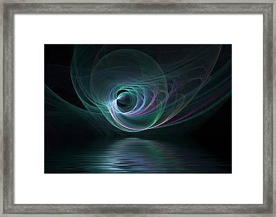 Fractal Lake Framed Print by Barbara Milton