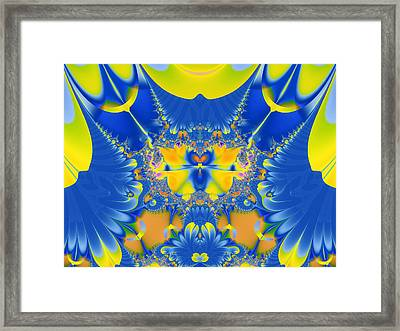 Fractal Owl Framed Print by Ian Mitchell