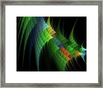 Fractal Quilt Blocks Framed Print by Bonnie Bruno