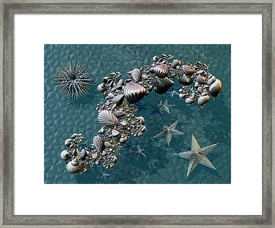 Fractal Sea Life Framed Print by Manny Lorenzo