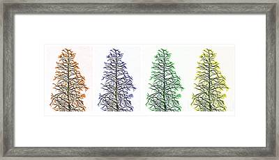 Fractal Seasons - Tetraptych Framed Print by Steve Ohlsen