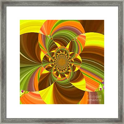 Fractal - Summer Into Fall - Luther Fine Art Framed Print by Luther  Fine Art