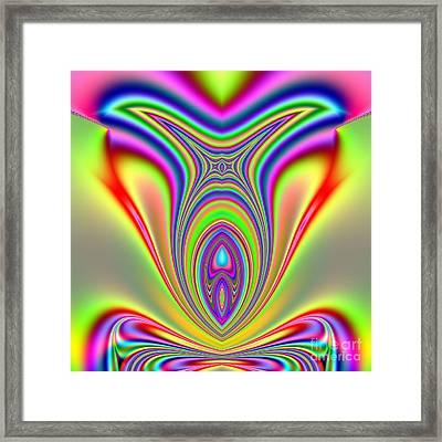 Fractal Sunfish Framed Print by Rose Santuci-Sofranko