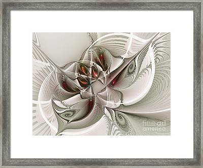 Fractal With Interior View Framed Print by Karin Kuhlmann
