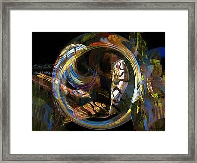 Fractals - Fish Tank Framed Print by Susan Savad