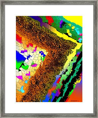 Fractionated Desing Framed Print by Mario Perez