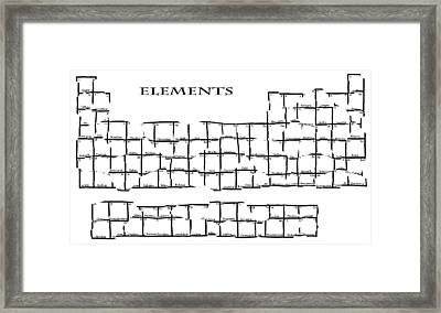 Fractured Periodic Table Framed Print by Daniel Hagerman