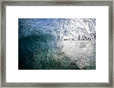 Fractured Tube. Framed Print by Sean Davey