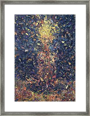 Fragmented Flame Framed Print by James W Johnson