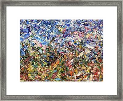 Fragmented Garden Framed Print by James W Johnson