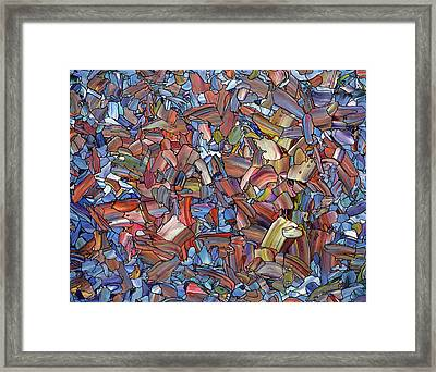 Fragmented Rose Framed Print by James W Johnson