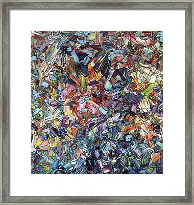 Fragmenting Heart Framed Print by James W Johnson