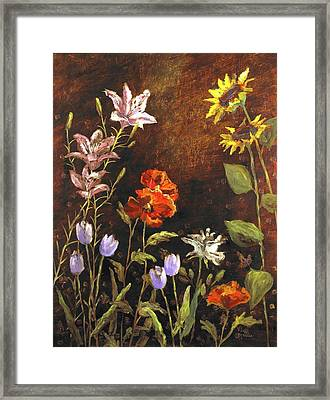 Fragrant Garden Framed Print by Vic  Mastis