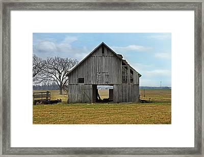 Framed Barn Framed Print by Steven  Michael