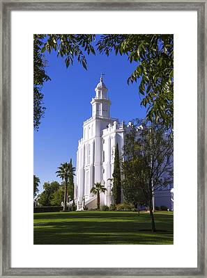 Framed House Framed Print by Chad Dutson